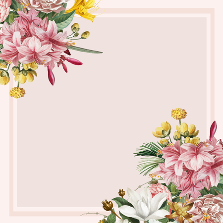 Vintage botanical frame design vector Stockfoto - 125239650