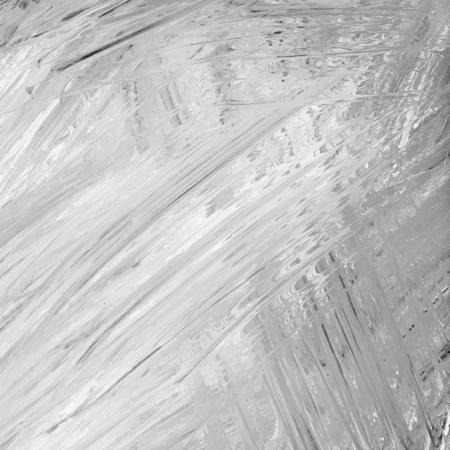 Black and white acrylic brush stroke textured background vector Foto de archivo - 125239664