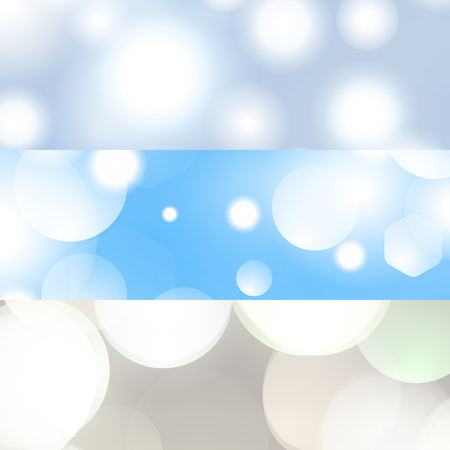 Blurred background banner set vector