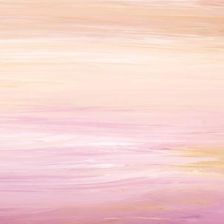 Peach abstract acrylic brush stroke textured background vector Foto de archivo - 125239682