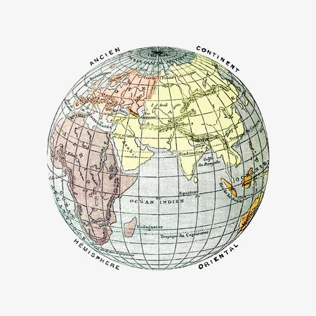 World atlas illustration vector 写真素材 - 125239701