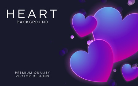 Pastel hearts background design vector Banco de Imagens - 125239703