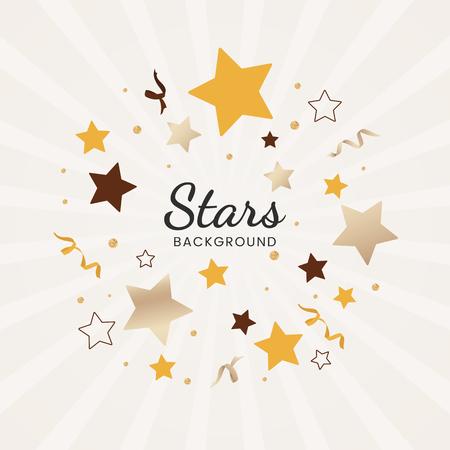 Festive stars background design vector