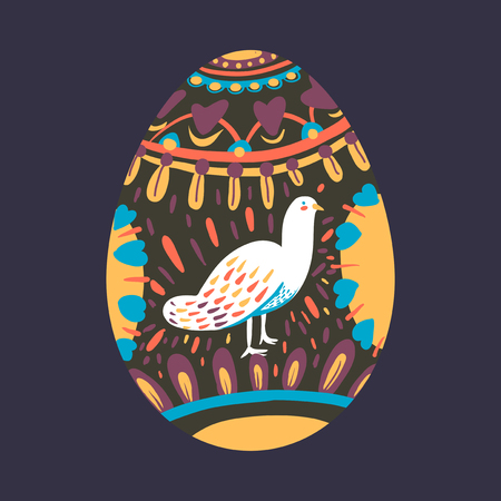 Vettore di uova dipinte festa di Pasqua Vettoriali