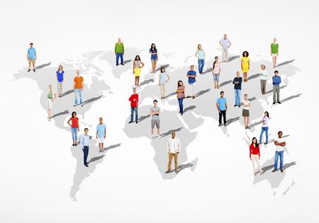 Grupo de personas diversas del mundo multiétnico