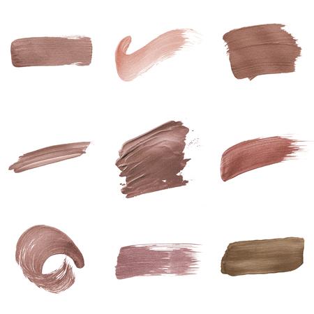 Set di distintivi per tratti di pennello rosa