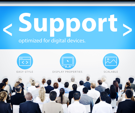 Business People Support Web Design Concept Stock Photo