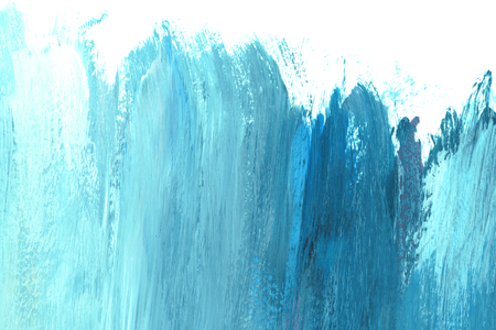 Blue and teal brush stroke textured background Фото со стока - 117116072