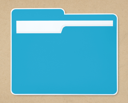 Blue document folder icon isolated