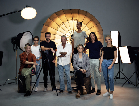 Portrait of a shoot production team Stok Fotoğraf