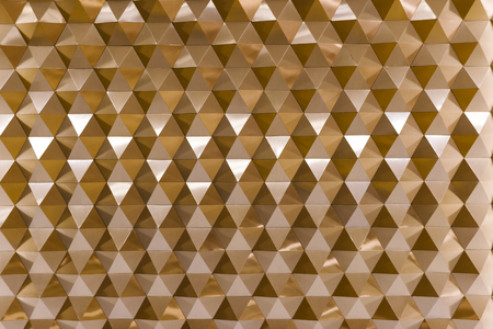 3D geometric texture in copper Imagens