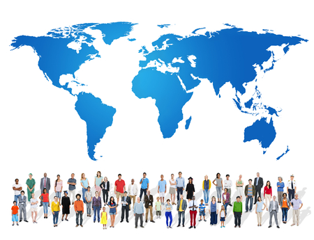People with global concept Foto de archivo - 117360470