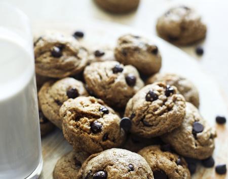 Homemade vegan chocolate chip cookies
