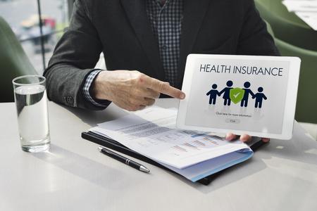 Family Insurance Reimbursement Protection Concept Foto de archivo - 117707531