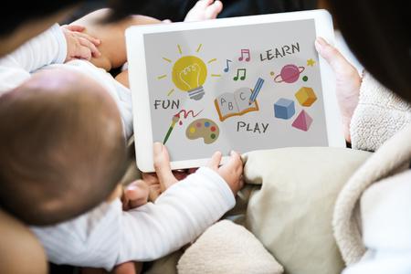 Illustration of child development education Banco de Imagens
