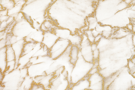 Abstract white and gold marble textured background