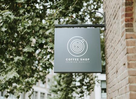 Coffee shop premium quality board mockup Stock Photo