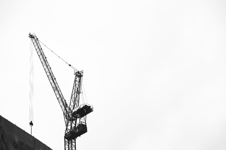 Crane in the sky at a construction site