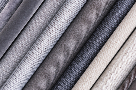 Various fabric material sample background Stok Fotoğraf - 117530192