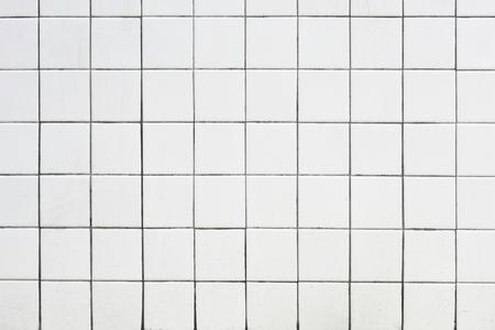 Retro white tiles textured background Reklamní fotografie