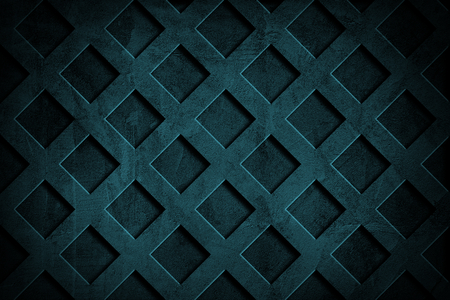 Deep blue grid cement textured wall background Фото со стока