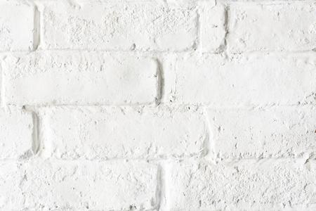 White brick wall textured background 写真素材