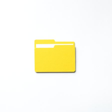 Paper craft art of folder icon
