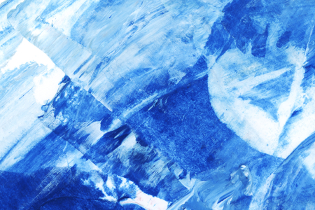 Blue and white brush stroke textured background