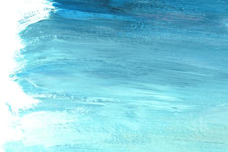 Strukturierter Hintergrund mit blauem und aquamarinem Pinselstrich