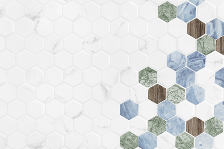 Colorful hexagon tiled textured background