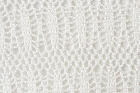 Mesh white crochet patterned background