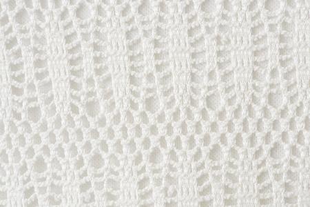 Mesh white crochet patterned background