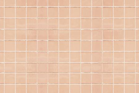 Pastel peach tiles textured background