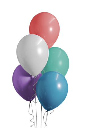 Colorful balloons for a birthday party