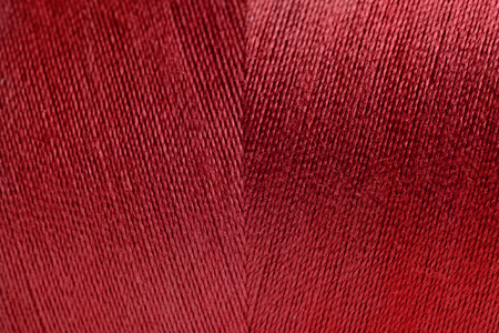 Red rolled yarn texture background
