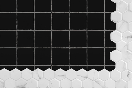 Black floor tiling textured background 版權商用圖片 - 117604720