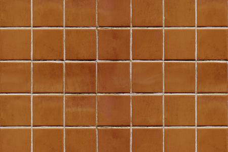 Brownish orange tiles textured background