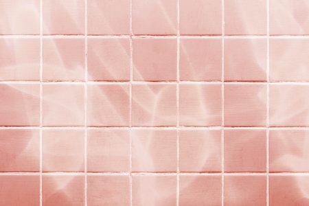 Pastel pink tiles textured background