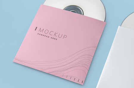 Promotional material cd package mockup Banque d'images - 117592516