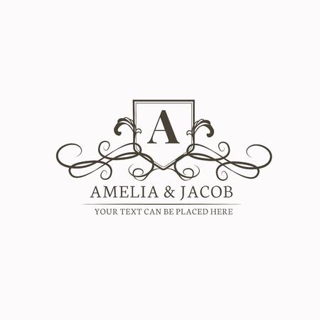 Conception d'invitation de mariage baroque vintage