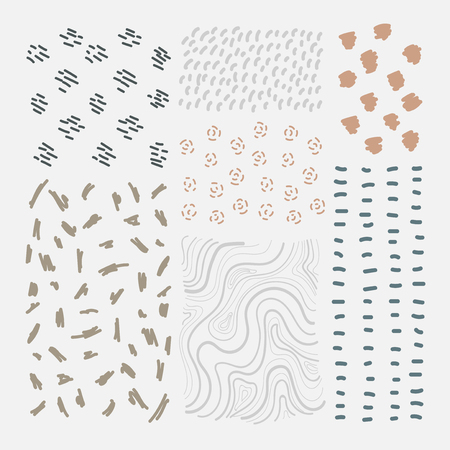 Hand drawn patterned design elements vector set Reklamní fotografie - 124971181
