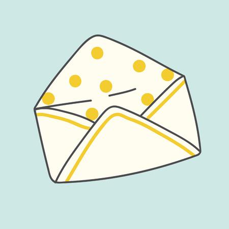 Beige polka dots envelope vector Ilustrace