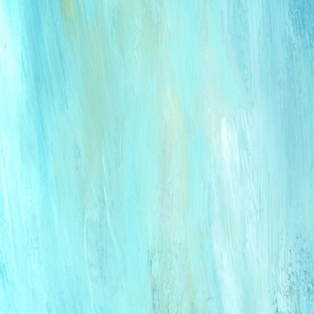 Teal abstract acrylic brush stroke textured background vector