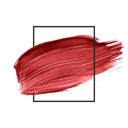 Red brush stroke badge vector Фото со стока - 124971193