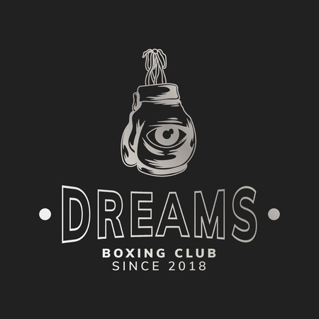 Dreams boxing club logo vector Illustration