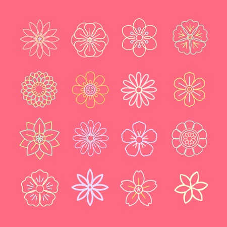 Flower pattern with a pink background vector