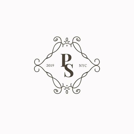 Vettore distintivo barocco stile vintage Vettoriali