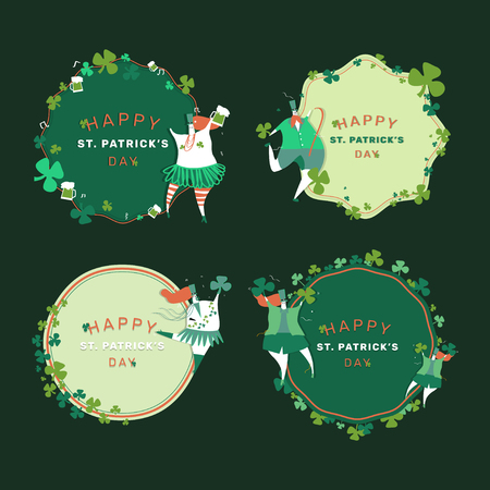 Happy St. Patrick's Day greeting cards vector