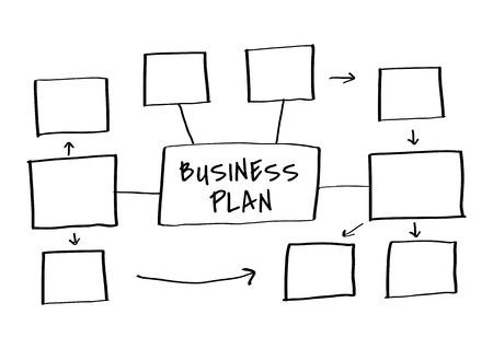 Doodle creative business plan chart illustration Illustration