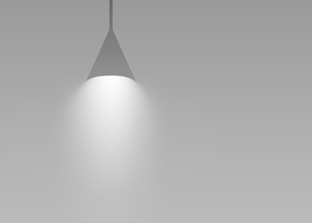 Gray hanging lights glowing vector